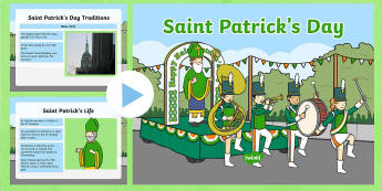 St Patrick's Day Assembly PowerPoint - KS1& 2 St Patrick's Day UK March 17th 2017