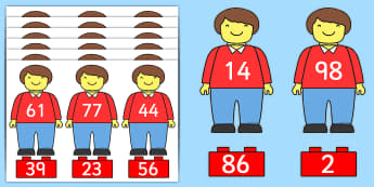 Building Brick Number Bonds to 100 Matching Activity - numbers