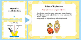 Light Refraction and Reflection PowerPoint - light, light powerpoint, light and dark powerpoint, reflection and refraction, science light powerpoint, ks2