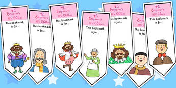 The Emperors New Clothes Editable Bookmarks - reading, books