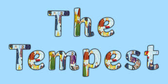The Tempest Character Display Lettering - The Tempest, display, revision, cards, Prospero, Shakespeare, display, lettering, display lettering,