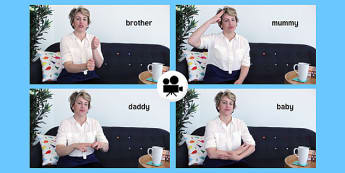 British Sign Language: Baby Sign Family Signs Video Clip - british sign language, baby signs, video clip, family signs