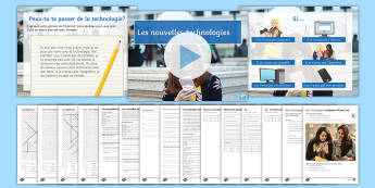 New Technologies Lesson 4: Si Clauses Lesson Pack French - KS4, French, New Technologies, français, nouvelles technologies, computer, ordinateur, mobile phone