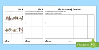 The Stations of the Cross Timeline Story Sequencing Cards - World Around Us KS2 - Northern Ireland, Easter, Lent, Stations of the Cross, Jesus, Religious Educat