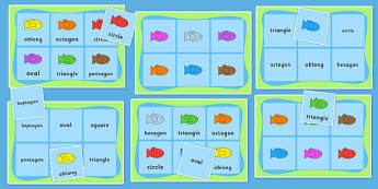 Shape and Colour Fishing Bingo and Lotto Game - shape, colour, fishing, bingo