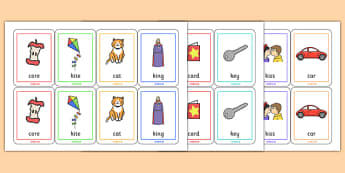 Initial k Sound Playing Cards - initial k, sounds, cards, k sound