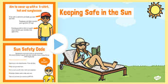 Sun Safety PowerPoint - sun safety, powerpoint, sun, safety