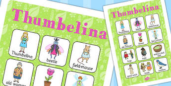 Thumbelina Vocabulary Poster - vocab poster, stories, visual aid