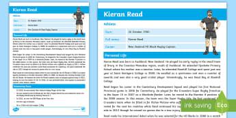 Kieran Read Fact Sheet - Kieran Read, All Blacks, Rugby, Lions Tour, Sports, Famous New Zealanders