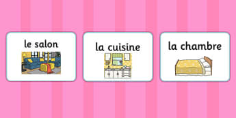 French Rooms of the House A5 Flashcards - french, rooms, house