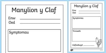 Manylion y Claf Doctor's Surgery Patient Details Welsh - welsh, cymraeg, Doctors surgery role play, doctor, nurse, surgery, role play, doctors role play, people who help us role play, people who help us, Patient, Details, records