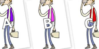A-Z Alphabet on Bean to Support Teaching on Fantastic Mr Fox - A-Z, A4, display, Alphabet frieze, Display letters, Letter posters, A-Z letters, Alphabet flashcards
