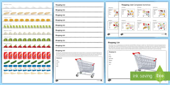 Workstation: Shopping List Activity Pack - Workstation, TEACCH, shopping, functional skills, ASDAN, life skills, autism