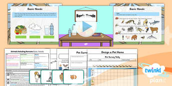 PlanIt - Science Year 2 - Animals Including Humans Lesson 3: Basic Needs Lesson Pack