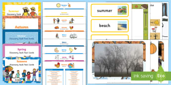 The Four Seasons Bumper Discovery Sack - EYFS, Early Years, KS1, Key Stage 1, seasons, months, year, spring, summer, autumn, winter