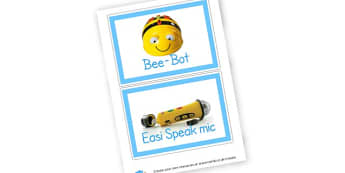 ICT resource label cards - display lettering - ICT Signs and Labels Primary Resources
