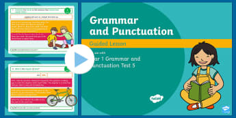 Year 1 Grammar and Punctuation Test 5 Guided  PowerPoint - SPaG, Assessment, GPS, assess, review, KS1, , English,