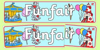 Funfair Display Banner - funfair, display banner, display, banner
