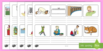 Home Timetable Storyboard Template - get up, get dressed, breakfast, brushing teeth, school, television, park, reading, dinner, bedtime
