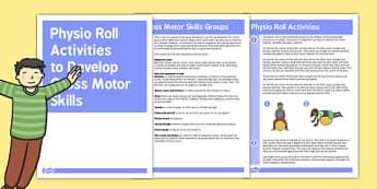 Physio Roll Gross Motor Skills Activities - gross motor, activity