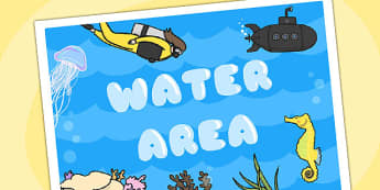 Water Area Display Sign -  water area, water display poster, water display, water poster, water area poster, water area display poster