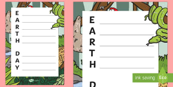Earth Day Acrostic Poem - KS1, Year 1, Year 2, Earth Day, (April 22nd), Science, Topic, Living Things, Event, Acrostic Poem, P