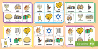 Hanukkah Bingo - Hanukkah, Jew, Judaism, celebration, light, the maccabees, menorah festival, bingo