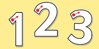 Number Formation Themed Display Numbers - formation, display, numbers, tracing