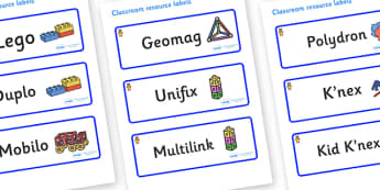 Welcome to our class - Teddy Bear Themed Editable Construction Area Resource Labels - Themed Construction resource labels, Label template, Resource Label, Name Labels, Editable Labels, Drawer Labels, KS1 Labels, Foundation Labels, Foundation Stage La