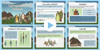 Celtiaid Pŵerbwynt - Dysgu Cymraeg fel Ail Iaith, Celtiaid, Hanes, pwerbwynt celtiaid, tai crwn, celt,Welsh