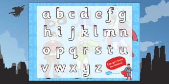 Superhero Themed Letter Writing Worksheet - superheroes, letter