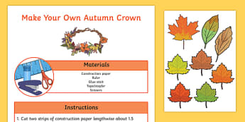 Autumn Crown Craft Activity