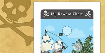 Pirate Sticker Reward Chart (30mm) - Pirate Reward Chart (30mm), pirate, reward chart, chart, reward, 30mm, 30 mm, stickers, twinkl stickers, award, certificate, well done, behaviour management, behaviour, pirate, pirates, ship, island, ocean, jolly