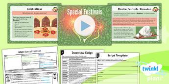PlanIt - RE Year 3 - Islam Lesson 4: Special Festivals Lesson Pack - Ramadan, Eid-ul-Fitr, Eid-ul-Adhr, Al Hijra, Muslim