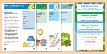 EYFS On the Farm Science Experiments Resource Pack - On the Farm, farming, growing, vegetables, wheat, flour, milk, cheese, milling, harvest