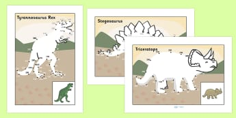 Counting in 10s Dot to Dot Sheets Dinosaurs - count, counting aid