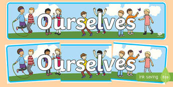 Ourselves Display Banner - Ourselves display,  KS1, display banner, ourselves, all about me, my body, senses, emotions, family, body, growth