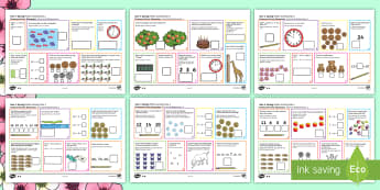 Year 1 Spring Maths Activity Mats English/Italian - Year 1, maths, activity mats, questions, answers, read, reason, predict, find, total, equals, add, a