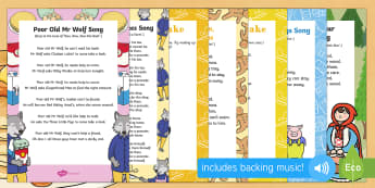 Songs and Rhymes Resource Pack - Mr Wolf's Pancakes, pancake day, Jan Fearnley, singing, sing time, Red Riding Hood, Gingerbread Man