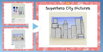 Superhero City Picture Craft Instructions PowerPoint - superhero