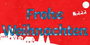 Frohe Weihnachten Buchstaben zum Ausschneiden für die Klassenraumgestaltung