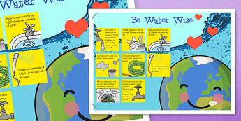 Water Conservation Poster Irish - water conservation, poster, display, irish, republic of ireland, Gaeilge