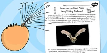 Mysterious Bat Creature Story Starter to Support Teaching on James and the Giant Peach