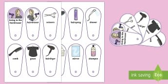 Going to the Hairdresser Communication Fan - having a hair cut, hairdressers, salon, visual support, visual timetable, barbers