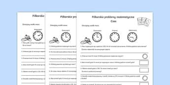 Karta Piłkarskie zadania Czas po polsku, worksheet