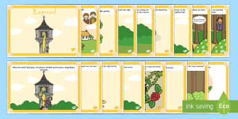 Rapunzel Story - rapunzel story sequencing, rapunzel story with words, rapunzel story cards, traditional tales story, traditional tale posters, reading