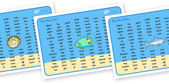 Under the Sea Word Mat KS1 - under the sea, under the sea word mat, under the sea ks2 word mat, under the sea high frequency words, high frequency words