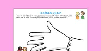 O mână de ajutor - Fisa de lucru anti bullying