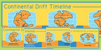 Continental Drift Timeline - continental drift, timeline, continental, drift
