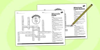Spell Words with Silent Letters Y5 6 Crossword - crossword, spell